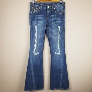 True Religion Flare Jeans Size 26 Distressed